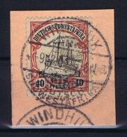 Deutsche Post In Südwestafrika Windhuk  9-12-1907 Mi 17 Voll-Stempel Auf Briefstück - Kolonie: Deutsch-Südwestafrika