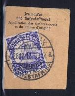 Deutsche Post In Südwestafrika Windhuk  28-12-1912 Mi 27 Voll-Stempel Auf Briefstück - Kolonie: Deutsch-Südwestafrika