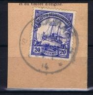 Deutsche Post In Südwestafrika Ukamas  28-1-1914 Mi 27 Voll-Stempel Auf Briefstück - Kolonie: Deutsch-Südwestafrika