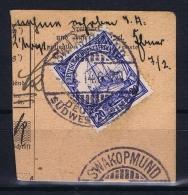 Deutsche Post In Südwestafrika Swakopmund   Mi 27 Voll-Stempel Auf Briefstück - Kolonie: Deutsch-Südwestafrika