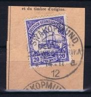 Deutsche Post In Südwestafrika Swakopmund  14-11-12 Mi 27 Voll-Stempel Auf Briefstück - Kolonie: Deutsch-Südwestafrika