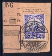 Deutsche Post In Südwestafrika Swakopmund  22-02-12 Mi 27 Voll-Stempel Auf Briefstück - Kolonie: Deutsch-Südwestafrika