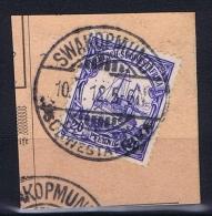 Deutsche Post In Südwestafrika Swakopmund  10-1-12 Mi 14 Voll-Stempel Auf Briefstück - Kolonie: Deutsch-Südwestafrika