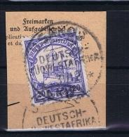Deutsche Post In Südwestafrika Usakos  31-12-12 Mi 27 Voll-Stempel Auf Briefstück - Kolonie: Deutsch-Südwestafrika
