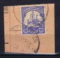 Deutsche Post In Südwestafrika  Bethanien Mi 27,  Voll-Stempel Auf Briefstück, Stamp Damaged - Kolonie: Deutsch-Südwestafrika