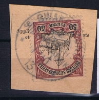 Deutsche Post In Südwestafrika  Swakopmund  Mi 18,  Voll-Stempel Auf Briefstück - Kolonie: Deutsch-Südwestafrika