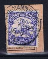 Deutsche Post In Südwestafrika  Gibeon   Auf Briefstück - Kolonie: Deutsch-Südwestafrika