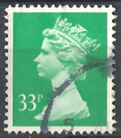 Great Britain, 1991 Elisabetta II,  33p Verde  #  Unificato 1531 Usato - 1952-.... (Elisabetta II)