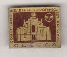 USSR Ukraina Old  Pin Badge - Odessa Soviet Railways - Transports