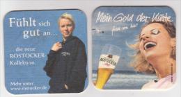 Rostocker Brauerei Gold Der Küste , Pils - Frau - Die Neue Rostocker Kollektion - Bierdeckel
