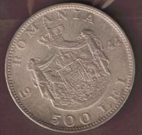 ROMANIA 500 LEI 1944  ARGENT Silver 0.700  Michael I KM# 65 - Roumanie