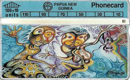 PAPUA NEW GUINEA  100 +10 U NATIVE ART  PNG-027a L & G CODE:306C CV.$30US READ DESCRIPTION !! - Papua New Guinea