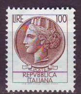 Repubblica Italiana, 1968 - 100 Lire Siracusana Fluorescente - MNH** - 1961-70: Nieuw/plakker