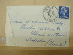 LetDoc. 4. 20 F Bleu Marianne De Muller. Y&T 1011b. Oblitération Hexagonale De 1958 - France