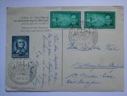 GERMANY 1955 POSTCARD WITH ZITTAU SONDERSTEMPEL TO ENGLAND - Brieven En Documenten