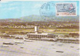AVION - PLANE  *** Aéroport De Bâle-Mulhouse ** Yvrt N°2303 - Carte Maximum De FRANCE 1982 - Vliegtuigen