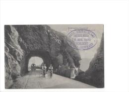 9117 - Schlucht-Tunnel  Train Et Cyclistes Tunnel De La Schlucht - Andere Gemeenten