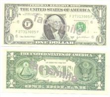 ONE DOLAR FAC-SIMILE Phantasy Banknotes Year 2003 - Erreurs