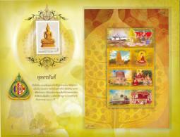 THAILAND - 2010/12 - Mi BL 249 + 3205 - VISAKHAPUJA DAY S/S PRESENTATION SHEET - MNH ** - Thailand