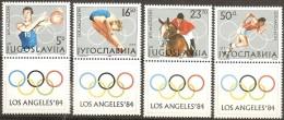Yugoslavia,SOG-Los Angeles ´84. 1984.,vg-d,MNH - 1945-1992 Socialist Federal Republic Of Yugoslavia
