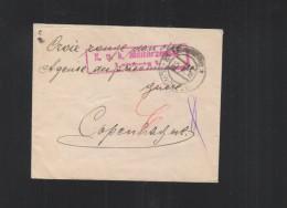 KuK Brief 1916 Lemberg Zensur Nach Dänemark Rotes Kreuz - Briefe U. Dokumente