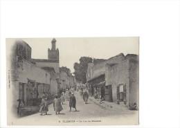 9128 - Tlemcen La Rue De Mascara - Tlemcen