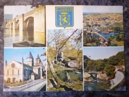 SAINT JUNIEN  (87). LOT DE 3 CARTES MULTIVUES . ANNEES 1960/70/80. - Saint Junien