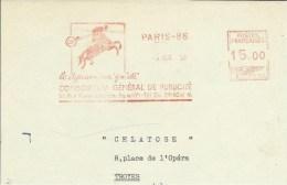 Lettre  EMA 1956  Havas Le Dynamisme Guidé  Animaux  Chevaux Mammiferes.  Themes  75 Paris  A7/29 - Chevaux