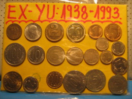 Yugoslavia 21 Different Coins - Yugoslavia