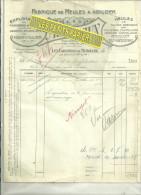 54 - Meurthe-et-moselle - LES CARRIERES-DE-MERVILLER - Facture MOINAUX - Fabrique De Meules à Aiguiser - 1930 - France