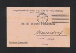 KuK PK Amt Für Volksernährung 1917 - 1850-1918 Imperium