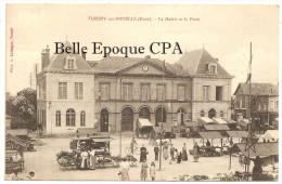 27 - FLEURY-sur-ANDELLE - La Mairie Et La Poste +++ Vers Paris, 1916 +++ Phot. A. Lavergne ++ RARE / JAMAIS Sur Delcampe - France