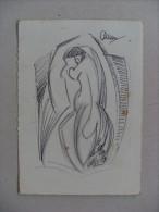 Disegno A China Su Invito Mostra ARDUINO NARDELLA 1976 - Altre Collezioni
