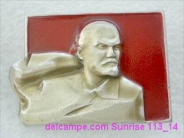 V.I. Lenin Russia Revolutionist, Scientist, Communist, Leader Soviet People / Soviet Badge 119_14_5442 - Personajes Célebres