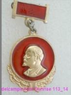 V.I. Lenin Russia Revolutionist, Scientist, Communist, Leader Soviet People / Soviet Badge 119_14_5459 - Celebrities
