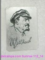 V.I. Lenin Russia Revolutionist, Scientist, Communist, Leader Soviet People / Soviet Badge 119_14_5464 - Celebrities