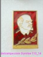 V.I. Lenin Russia Revolutionist, Scientist, Communist, Leader Soviet People / Soviet Badge 119_14_5471 - Personajes Célebres