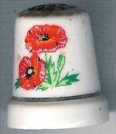 Dé à Coudre Porcelaine Motif Fleurs - Ditali Da Cucito