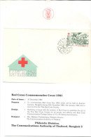 Thaïland Children´s Day 1981 Red Cross Commemorative Cover - Thaïlande