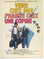 Copie D´affiche Cinéma - E165 - Viens Chez Moi, J'habite Chez Une Copine M. Blanc Et B. Giraudeau édition Nugeron N°E165 - Affiches Sur Carte