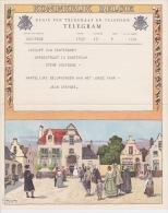 Telegram  - Voor Het Huwelijk Van Mr. E Mevr. Pierre Coquyt - Van Rentergem.   Afgifte Te Oostende 7/10/1952 - Otros