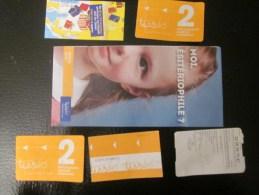 ésitérophilie Titre De Transport Ticket De Bus Métro Tramway + Dépliant Carte Jeu Grattage/ Explicatif Métro De Toulouse - Subway