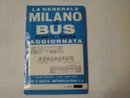 ANTICO LIBRETTO - MILANO IN BUS - PIANTA - GUIDA - - Non Classificati
