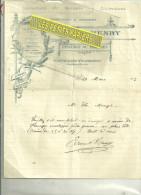 54 - Meurthe-et-moselle - PRAYE-SOUS-VAUDEMONT - Facture HENRY - épicerie – 1913 - 1900 – 1949