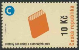 Tsjechië Czech Rep. 1998 Mi 177 ** Book + Copyright Symbol – World Book And Copyright Day /  Buch Und Copyright-Zeichen - Andere