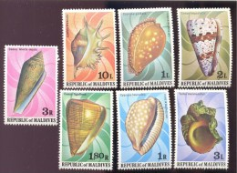 MALDIVES ; MINT N.H. STAMPS ; SCOTT # 786-92 ;  IGPC 1978 (  SEA SHELLS ; COWRIES - Maldives (1965-...)