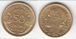 TOP QUALITE **** 50 CENTIMES 1941 MORLON - BRONZE-ALUMINIUM **** EN ACHAT IMMEDIAT !!! - G. 50 Centesimi