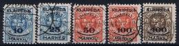 Deutsche Reich: Memel 1923 Michel  124 - 228 Used - Germany
