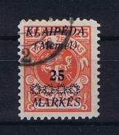 Deutsche Reich: Memel 1921 Michel  137 Used - Deutschland
