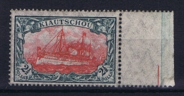 Deutsche Reich:  Kiatschou, Michel  37 II B MNH/**, Sheetmargin - Colonie: Kiautchou
